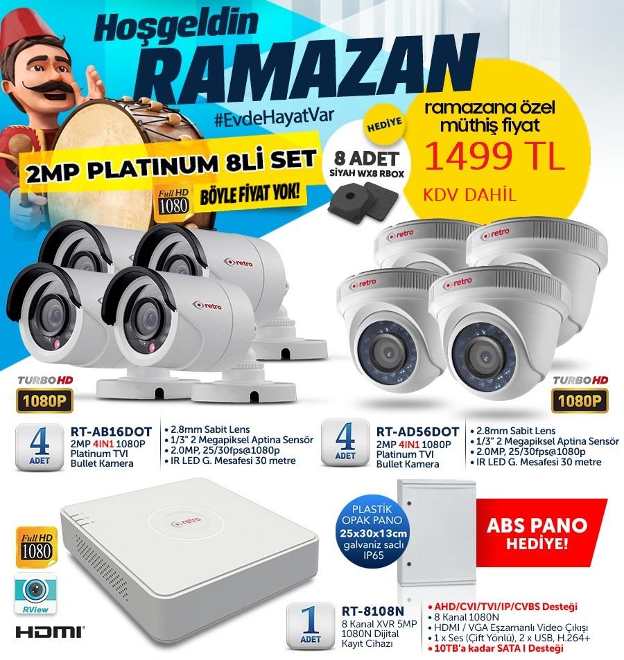 8li Güvenlik Kamera Set Kampanyası