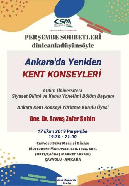 Ankara'da Yeniden Kent Konseyleri