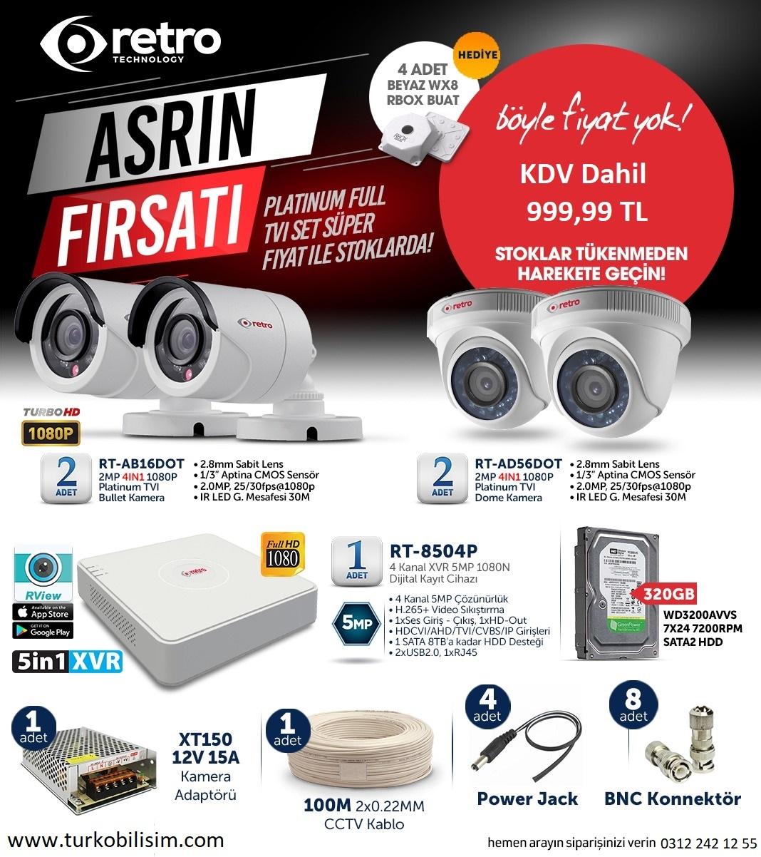 4'lü Güvenlik Kamerası Kampanyası