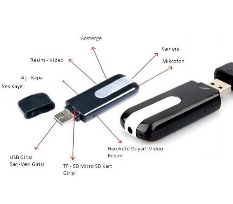 Usb Bellek Gizli Kamera 16 GB Hafıza